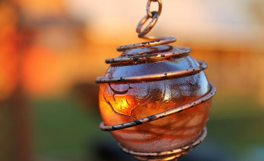 A gorgeous light ornament